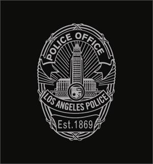 Los Angeles  Police office Badge725B Logo