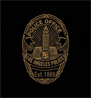 Los Angeles  Police office Badge_M4B Logo